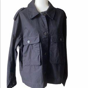 NWT H&M Black Utility Women's Jacket 100% Cotton